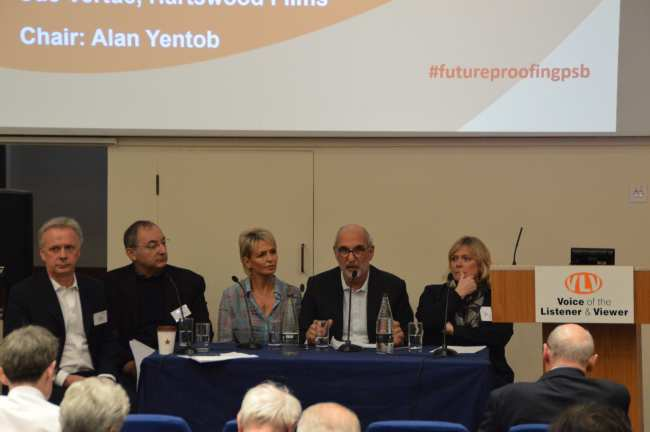 Alan Yentob, Peter Kosminsky, Sue Vertue, Cat Lewis, Peter Fincham