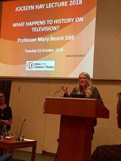 Professor Mary Beard giving the annual VLV Jocelyn Hay Lecture