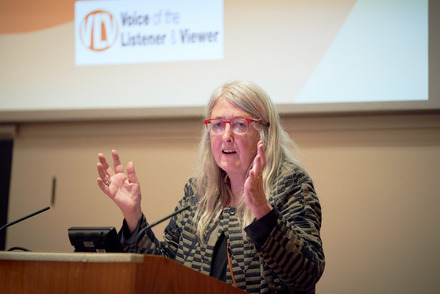 Professor Mary Beard giving the VLV 2018 Lecture